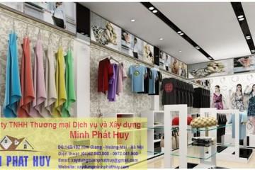 Trần thạch cao cho cửa hàng thời trang