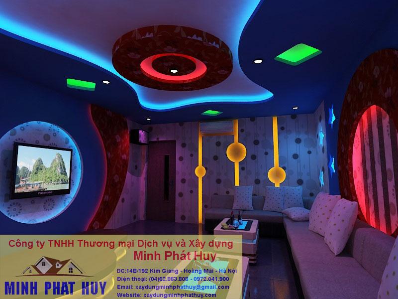 Thi công thạch cao phòng Karaoke 3