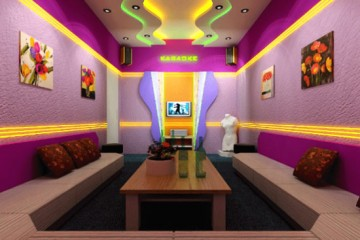 Dịch vụ thi công trần thạch cao phòng hát karaoke