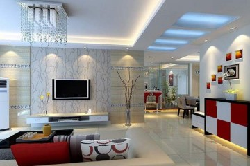 Thiết kế trần thạch cao phòng khách theo cá tính