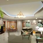 Trần thạch cao giật cấp trong trang trí nội thất