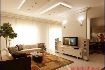 Các mẫu trần thạch cao phòng khách hiện đại