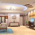 Trần thạch cao trang trí phòng khách Kim Đồng