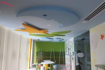 Trần thạch cao trang trí cho trường mẫu giáo