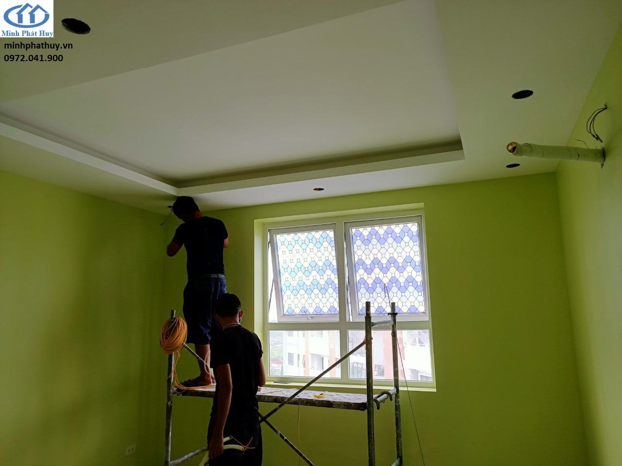 Thi công trần thạch cao tại Tân Mai cho phòng ngủ